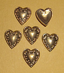 18 pcs. Raw brass heart stampings - f1476