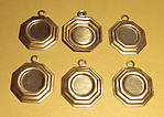 18 pcs. raw brass cabochon settings 7mm - f1268