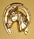 brass horse in horseshoe stamping - f1274