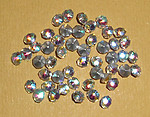 150 pcs. glass table tin cut TTC AB clear rhinestones ss13 - f1259