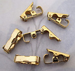18 pcs. gold tone fold over clasps 3mm wide - f4112