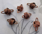 18 pcs. copper coated knot connector charms 12x6mm - f4176