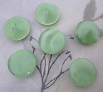 18 pcs. glass green moonstone pointed back rhinestones ss60 - f4186