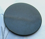 2 pcs. tested bakelite green flat disk cabochons 28x2mm - d309