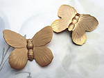 4 pcs. raw brass butterfly stampings 30x24mm - d363