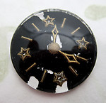 glass reverse painted intaglio clock watch cabochon 23mm - d511