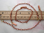 8 pcs. copper coated figaro bracelet chains w clasp - f4649
