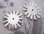 4 pcs. aluminum flower stampings w rivet hole 38x35mm - f4749