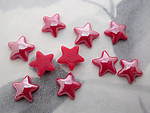 30 pcs. glass red iridescent star cabochons 8mm - f5465