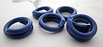 12 pcs. blue celluloid coil links jump rings 12-13mm - r333