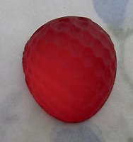 frosted Cuba glass foiled berry fruit flat back cabochon 20x18mm - d217