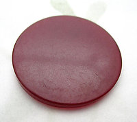 tested bakelite red flat disk cabochon 31mm - d353