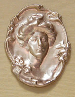 5 pcs. large brass cameo stampings 56x44mm - f1444