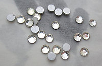 72 pcs. tiny clear foiled chanton rose flat back cabochons 3mm - f3748