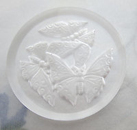 glass reverse intaglio butterfly cabochon 35mm - f6336