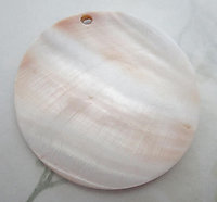 XL MOP mother of pearl shell pendant disk 60mm - f6556