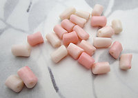 24 pcs. genuine pink coral tube beads - f7203