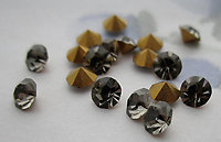 50 pcs. MCC machine cut crystal black diamond gray chanton rhinestones ss18 - r476
